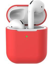 Apple AirPods Flexibel Zacht Siliconen Hoesje Rood