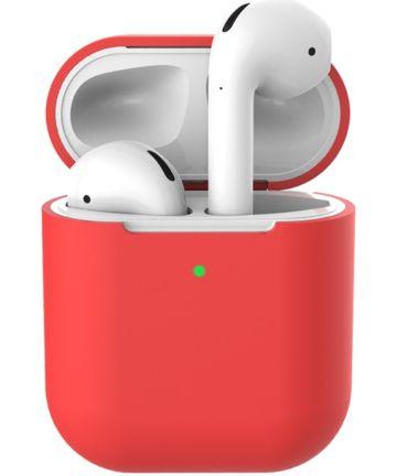 Apple AirPods Flexibel Zacht Siliconen Hoesje Rood Hoesjes
