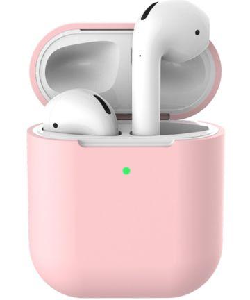Apple AirPods Flexibel Zacht Siliconen Hoesje Roze Hoesjes