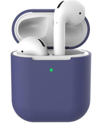 Apple AirPods Flexibel Zacht Siliconen Hoesje Donker Blauw Hoesjes