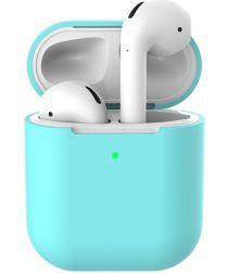 Apple AirPods Flexibel Zacht Siliconen Hoesje Blauw