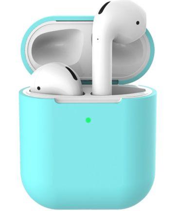 Apple AirPods Flexibel Zacht Siliconen Hoesje Blauw Hoesjes