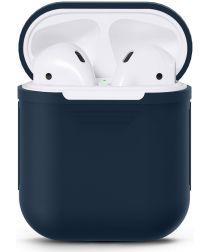 Apple AirPods Stevig Siliconen Hoesje Donker Blauw