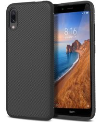 Xiaomi Mi Redmi 7A Twill Slim Texture Backcover Zwart