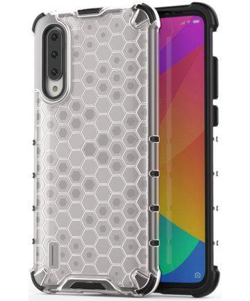 Xiaomi Mi A3 Hybride Honinggraat Hoesje Transparant Hoesjes