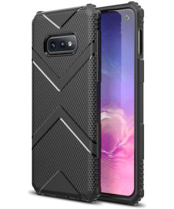 Samsung Galaxy S10E TPU Shield Hoesje Zwart Hoesjes