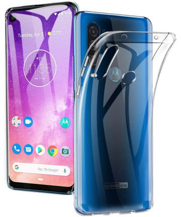 Motorola One Action Hoesje Dun TPU Transparant Hoesjes