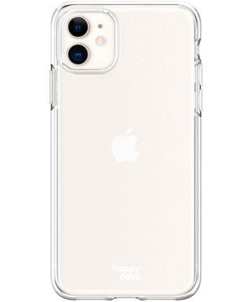 HappyCase Apple iPhone 11 Hoesje Flexibel TPU Clear Print Hoesjes