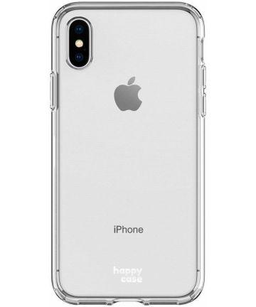 HappyCase Apple iPhone XS Flexibel TPU Hoesje Clear Print Hoesjes