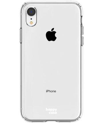 HappyCase Apple iPhone XR Hoesje Flexibel TPU Clear Print Hoesjes