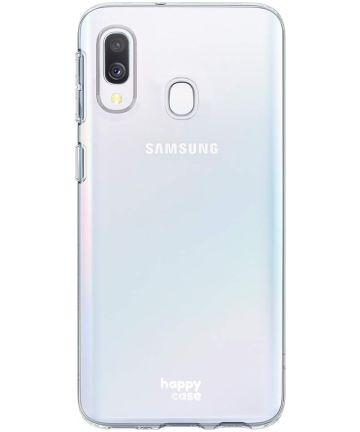 HappyCase Samsung Galaxy A40 Flexibel TPU Hoesje Clear Print Hoesjes