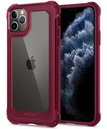 Spigen Gauntlet Apple iPhone 11 Pro Max Hoesje Rood Hoesjes
