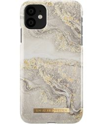 iDeal of Sweden Fashion Apple iPhone 11 Hoesje Sparkle Greige Marble