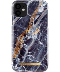 iDeal of Sweden Apple iPhone 11 Fashion Hoesje Midnight Blue Marble