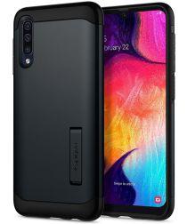 Spigen Slim Armor Case Samsung Galaxy A50 Hoesje Metal Slate