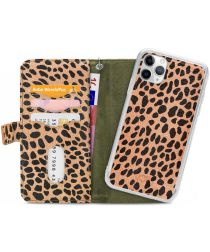 Mobilize Gelly Wallet Zipper Apple iPhone 11 Pro Hoesje Olive Leopard