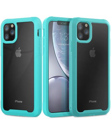 Apple iPhone 11 Pro Max Hybride Full Protect Hoesje Groen Hoesjes