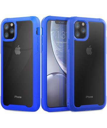 Apple iPhone 11 Pro Max Hybride Full Protect Hoesje Blauw Hoesjes