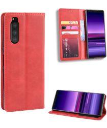 Sony Xperia 5 Retro Portemonnee Hoesje Rood
