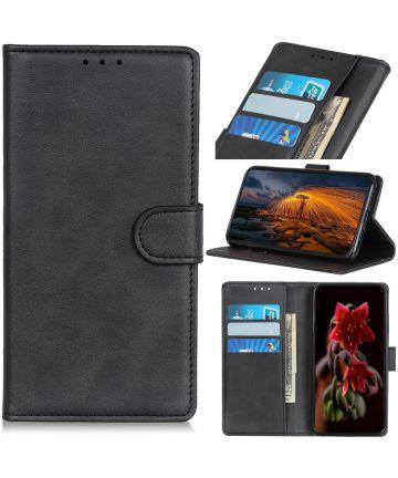 Sony Xperia 5 Portemonnee Hoesje Mat Zwart Hoesjes