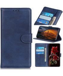 Sony Xperia 5 Portemonnee Hoesje Mat Blauw