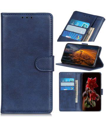 Sony Xperia 5 Portemonnee Hoesje Mat Blauw Hoesjes
