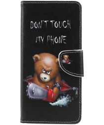 Sony Xperia 1 Portemonnee Hoesje met Don't Touch My Phone Print