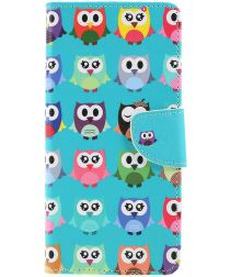Sony Xperia 1 Portemonnee Hoesje met Cute Owls Print