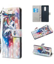 Sony Xperia 1 Light Portemonnee Hoesje met Uil Print