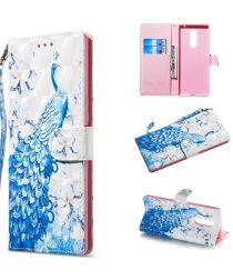 Sony Xperia 1 Light Portemonnee Hoesje met Pauw Print