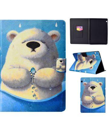 Huawei MediaPad T3 (10) Portemonnee Hoes met Ijsbeer Print Hoesjes