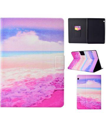 Huawei MediaPad T3 (10) Portemonnee Hoes met Strand Print Hoesjes