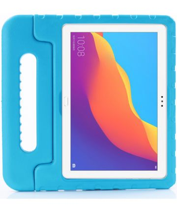 Huawei MediaPad T5 (10) Kinder Tablethoes met Handvat Blauw Hoesjes