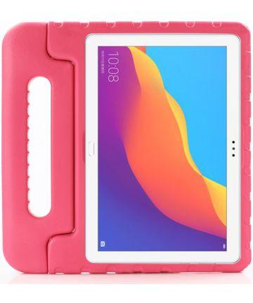 Huawei MediaPad T5 (10) Kinder Tablethoes met Handvat Roze Hoesjes