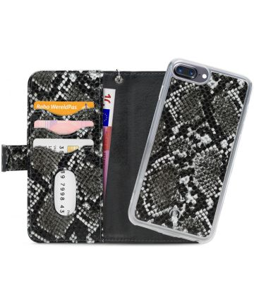 Mobilize Gelly Wallet Zipper iPhone 8 Plus/ 7 Plus Hoesje Black Snake Hoesjes