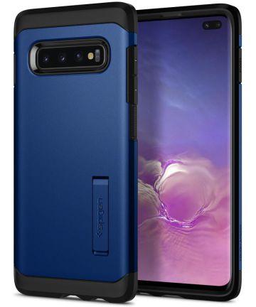 Spigen Tough Armor Samsung Galaxy S10 Plus Hoesje Blauw Hoesjes
