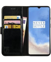Rosso Element OnePlus 7T Hoesje Book Cover Zwart