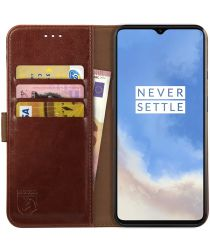 Rosso Element OnePlus 7T Hoesje Book Cover Bruin