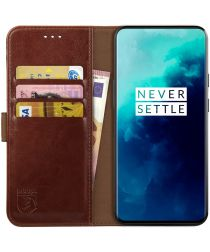 Rosso Element OnePlus 7T Pro Hoesje Book Cover Bruin