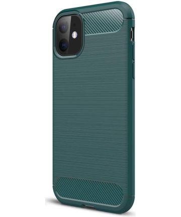Apple iPhone 11 Hoesje Geborsteld TPU Midnight Green Hoesjes
