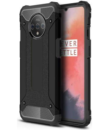 OnePlus 7T Hybride Hoesje Zwart Hoesjes