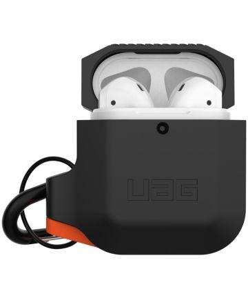 Urban Armor Gear Apple AirPods Hoesje Siliconen Zwart/Oranje Hoesjes