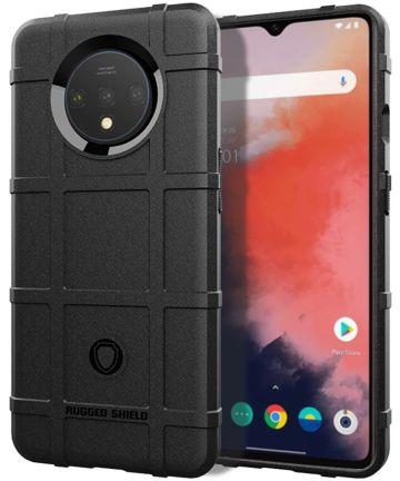 OnePlus 7T Anti-Shock TPU Backcover Zwart Hoesjes