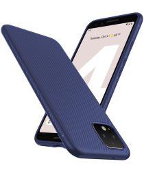Google Pixel 4 XL Twill Slim Texture Hoesje Blauw