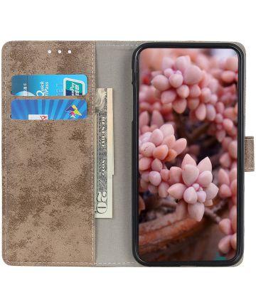 Motorola Moto E6s / E6 Plus Retro Portemonnee Hoesje Bruin Hoesjes