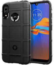 Motorola Moto E6 Plus Rugged Armor Hoesje Zwart