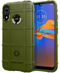 Motorola Moto E6 Plus / E6s Rugged Armor Hoesje Groen