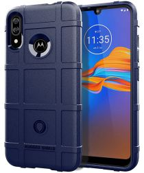 Motorola Moto E6s / E6 Plus Rugged Armor Hoesje Blauw