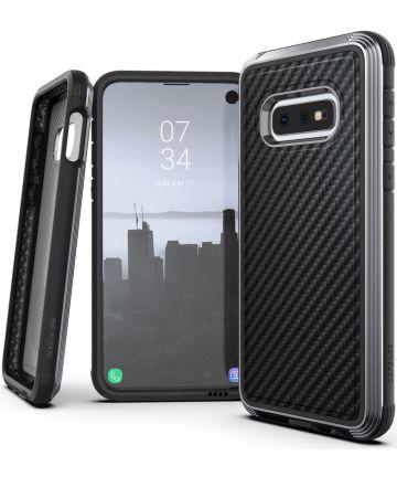 Raptic Lux Samsung Galaxy s10e hoesje carbon fiber zwart Hoesjes