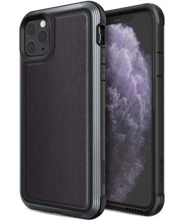 Raptic Lux Apple iPhone 11 pro max hoesje leather zwart Hoesjes